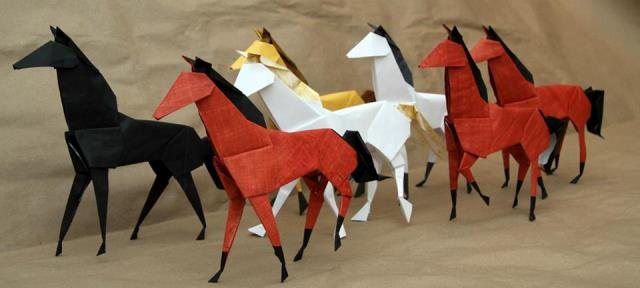 2014 The Year Of Horse Origami Horses Taros Origami Studio