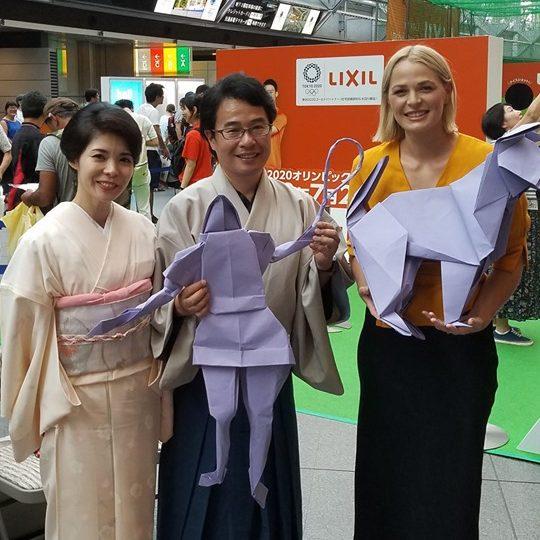 Giant Origami & Live Performance | Taro's Origami Studio